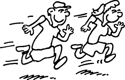 cartoon pictures of people running 14 rockhoppin' trail